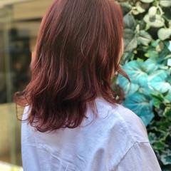 ヘアアレンジ ストリート ロブ ダブルカラー ヘアスタイルや髪型の写真・画像