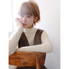 ショートボブ 大人かわいい 外国人風カラー ショート ヘアスタイルや髪型の写真・画像