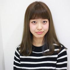 渋谷系 外国人風 ストレート グラデーションカラー ヘアスタイルや髪型の写真・画像