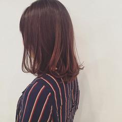 イルミナカラー ボブ ミディアム 暗髪 ヘアスタイルや髪型の写真・画像