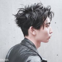 黒髪 ボーイッシュ モード メンズ ヘアスタイルや髪型の写真・画像