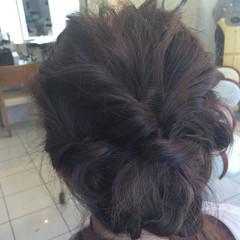 結婚式 大人かわいい ヘアアレンジ セミロング ヘアスタイルや髪型の写真・画像