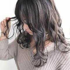 ラベンダー 外国人風カラー ラベンダーピンク ナチュラル ヘアスタイルや髪型の写真・画像
