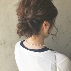 大人かわいい ヘアアレンジ ルーズ 結婚式 ヘアスタイルや髪型の写真・画像