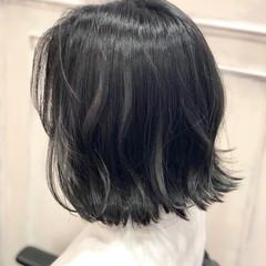 くすみカラー ナチュラル ブルージュ ミニボブ ヘアスタイルや髪型の写真・画像