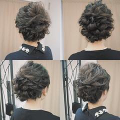 ヘアアレンジ 外国人風 波ウェーブ セミロング ヘアスタイルや髪型の写真・画像