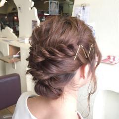 デート 結婚式 ナチュラル 簡単ヘアアレンジ ヘアスタイルや髪型の写真・画像