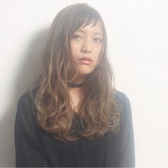 外国人風 アッシュ 抜け感 ロング ヘアスタイルや髪型の写真・画像