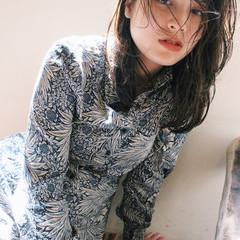 アンニュイほつれヘア アンニュイ ヘルシー ミディアム ヘアスタイルや髪型の写真・画像