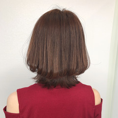 イメチェン ナチュラル 外ハネボブ 髪質改善カラー ヘアスタイルや髪型の写真・画像