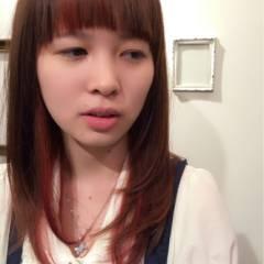 グラデーションカラー フェミニン ナチュラル ロング ヘアスタイルや髪型の写真・画像