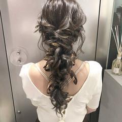 ロング 結婚式 ヘアアレンジ デート ヘアスタイルや髪型の写真・画像