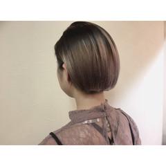 ハイライト 暗髪 モード グラデーションカラー ヘアスタイルや髪型の写真・画像