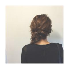 ヘアアレンジ 編み込み ハーフアップ ショート ヘアスタイルや髪型の写真・画像