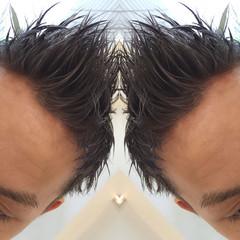 ショート シルバー アッシュ ストリート ヘアスタイルや髪型の写真・画像