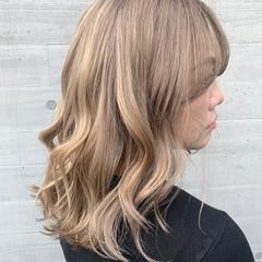 ミディアム 外国人風カラー ブロンドカラー 外国人風 ヘアスタイルや髪型の写真・画像