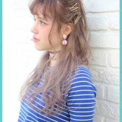 春 ロング ストリート ヘアスタイルや髪型の写真・画像