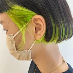モード ショートヘア ミニボブ 切りっぱなしボブ ヘアスタイルや髪型の写真・画像