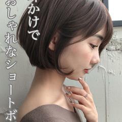 大人かわいい アンニュイほつれヘア 前下がりボブ デジタルパーマ ヘアスタイルや髪型の写真・画像