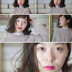 フェミニン 外ハネ 大人女子 切りっぱなし ヘアスタイルや髪型の写真・画像