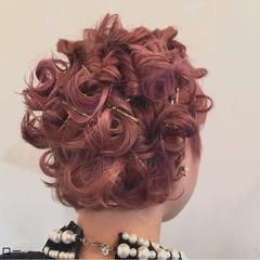 ヘアアクセ ショート ガーリー ヘアアレンジ ヘアスタイルや髪型の写真・画像
