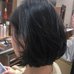 デート オフィス 黒髪 ボブ ヘアスタイルや髪型の写真・画像