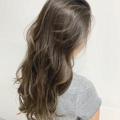 レイヤーヘアー ロング ハイライト ガーリー ヘアスタイルや髪型の写真・画像