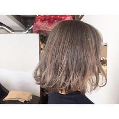 ヌーディベージュ ボブ 外国人風 透明感 ヘアスタイルや髪型の写真・画像