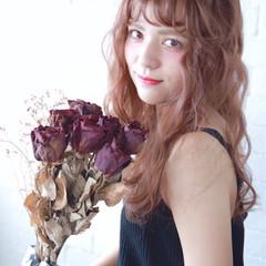 抜け感 ヘアアレンジ かわいい フェミニン ヘアスタイルや髪型の写真・画像