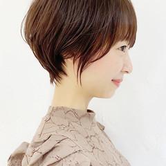 ショート ひし形シルエット ナチュラル ショートボブ ヘアスタイルや髪型の写真・画像