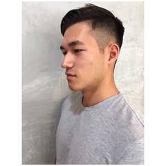 ショート メンズカット ナチュラル 黒髪 ヘアスタイルや髪型の写真・画像