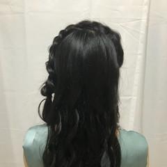 デート ガーリー ヘアアレンジ パーティヘア ヘアスタイルや髪型の写真・画像