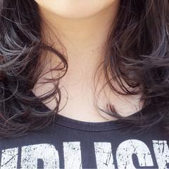 ミディアム ワンカール レイヤーカット ストリート ヘアスタイルや髪型の写真・画像