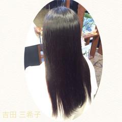 ストレート 簡単ヘアアレンジ ロング 時短 ヘアスタイルや髪型の写真・画像
