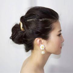 ハーフアップ ヘアアレンジ フェミニン 大人かわいい ヘアスタイルや髪型の写真・画像