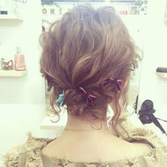外国人風 ショート 結婚式 フェミニン ヘアスタイルや髪型の写真・画像