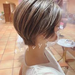 モテ髪 ショートボブ ショート 大人かわいい ヘアスタイルや髪型の写真・画像