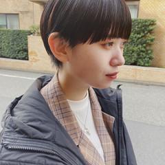 小顔ショート モード 黒髪ショート 大人ショート ヘアスタイルや髪型の写真・画像