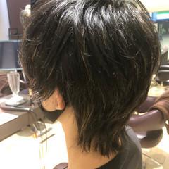 大人ハイライト メンズカット ナチュラル マッシュウルフ ヘアスタイルや髪型の写真・画像
