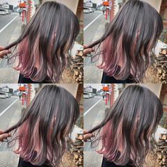 ユニコーンカラー カラーバター グラデーションカラー ガーリー ヘアスタイルや髪型の写真・画像