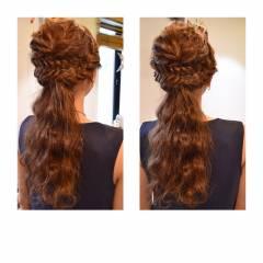 結婚式 ヘアアレンジ 二次会 大人かわいい ヘアスタイルや髪型の写真・画像
