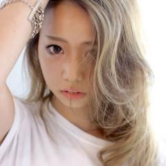 外国人風 セミロング グラデーションカラー ストリート ヘアスタイルや髪型の写真・画像