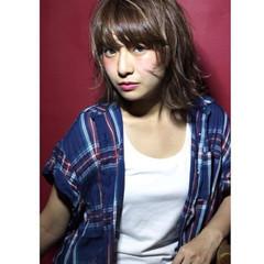 レイヤーカット ボブ 前髪あり 外国人風 ヘアスタイルや髪型の写真・画像