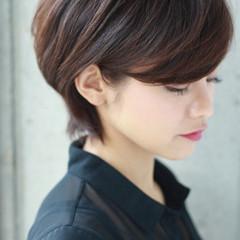 前髪あり 黒髪 上品 外国人風 ヘアスタイルや髪型の写真・画像