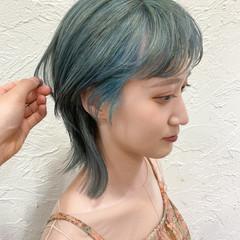 ウルフ女子 モード ニュアンスウルフ ナチュラルウルフ ヘアスタイルや髪型の写真・画像