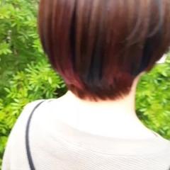 ショートボブ ミニボブ インナーカラー ショート ヘアスタイルや髪型の写真・画像