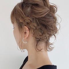 簡単ヘアアレンジ ナチュラル 編み込みヘア 編み込み ヘアスタイルや髪型の写真・画像