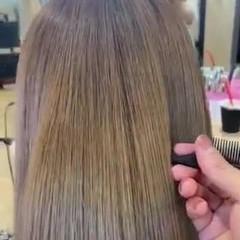 ロング 髪質改善 ハイトーンカラー 最新トリートメント ヘアスタイルや髪型の写真・画像