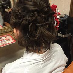 ガーリー 成人式 ショート 波ウェーブ ヘアスタイルや髪型の写真・画像