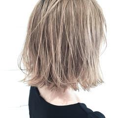 ボブ ハイライト ハイトーン ストリート ヘアスタイルや髪型の写真・画像